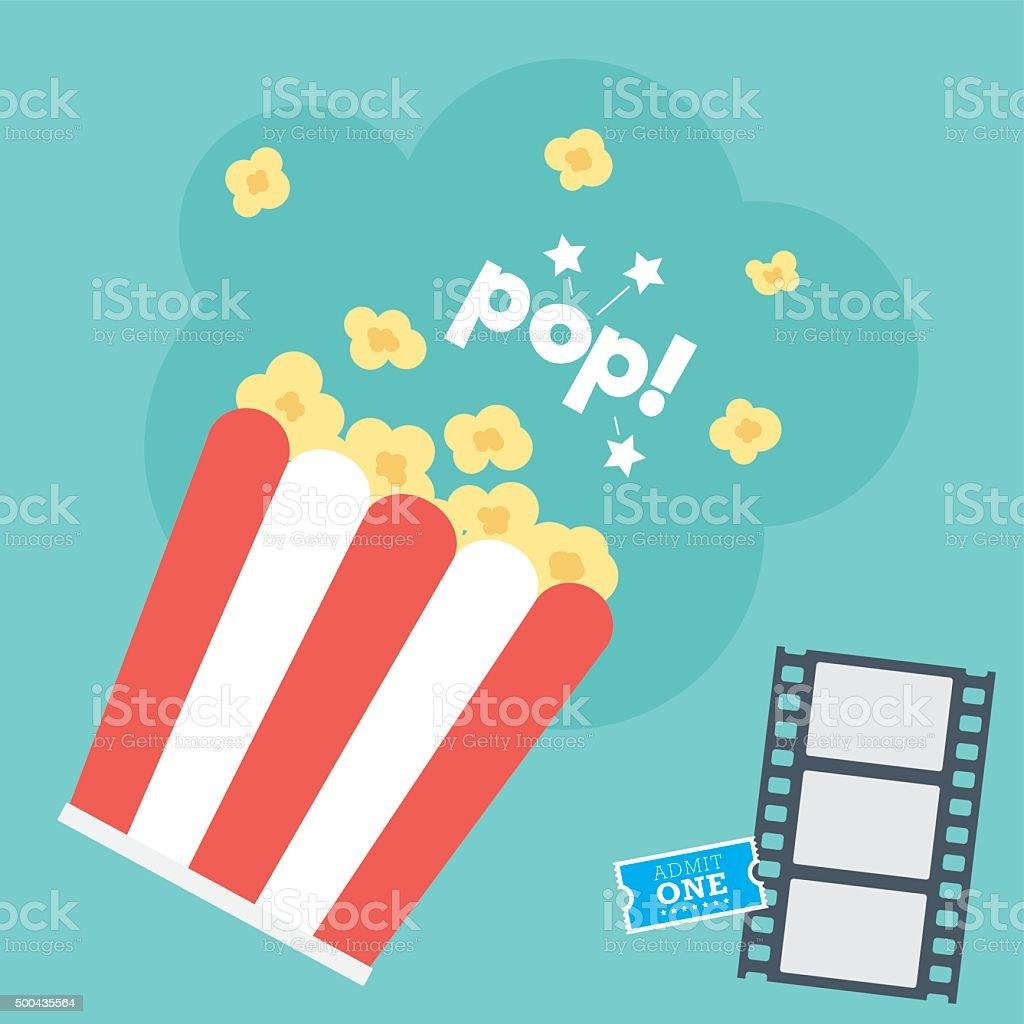Movie Popcorn vector art illustration