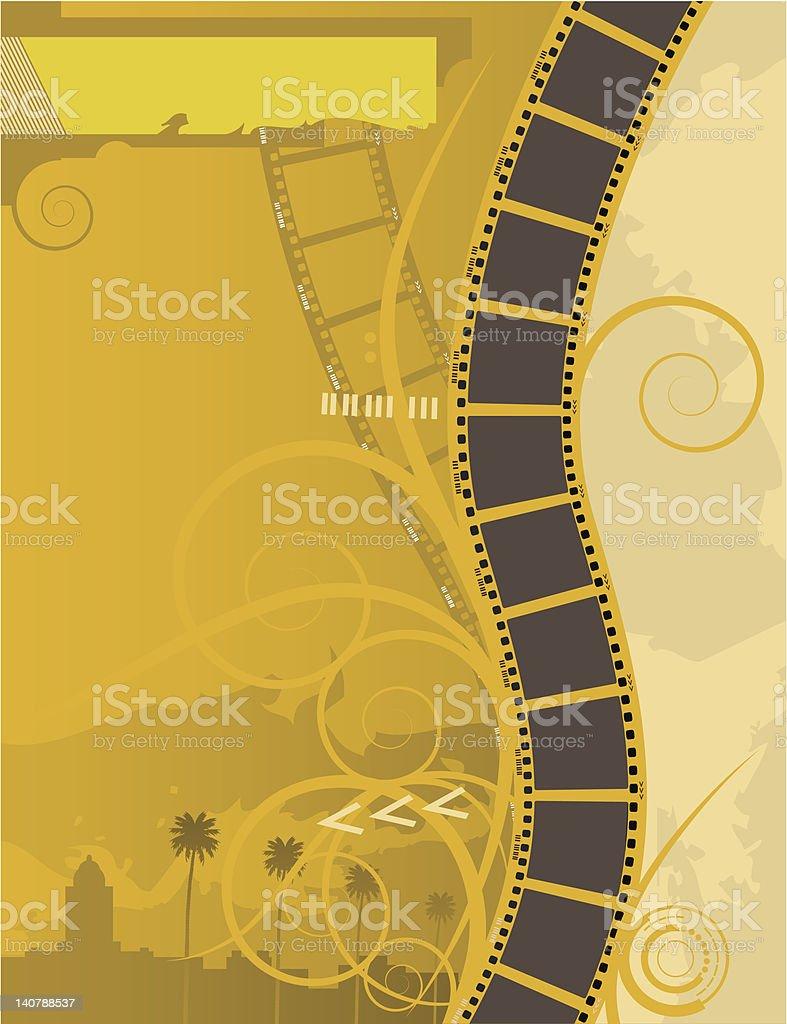 movie poster - filmstrip vector art illustration