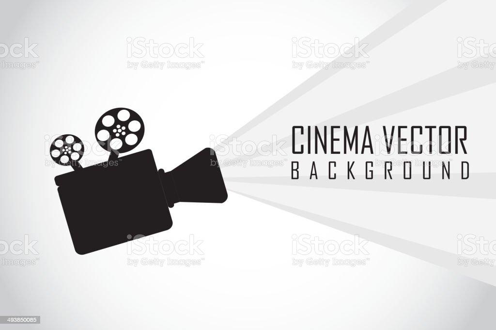 movie projector vector art illustration