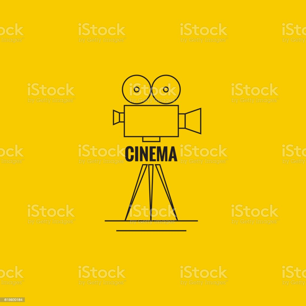Movie projector vector illustration. vector art illustration