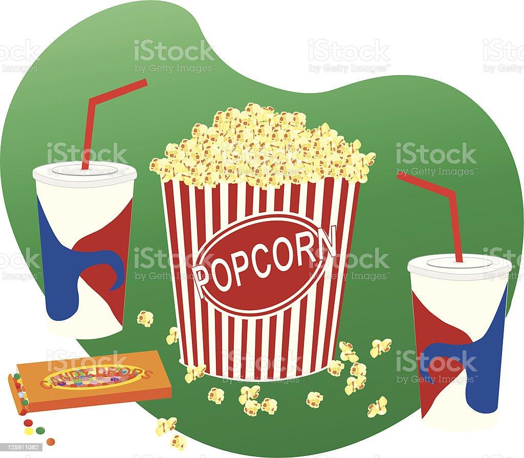 Movie Snacks vector art illustration