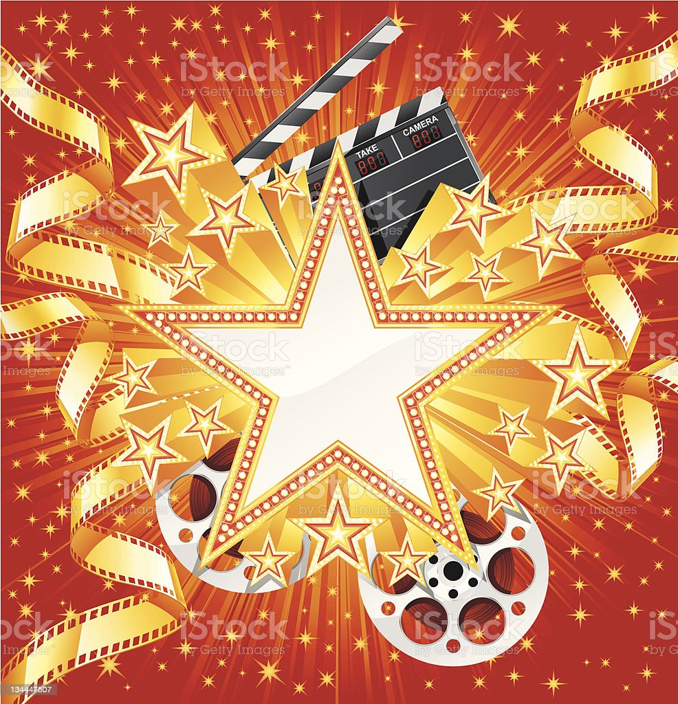 Movie star royalty-free stock vector art