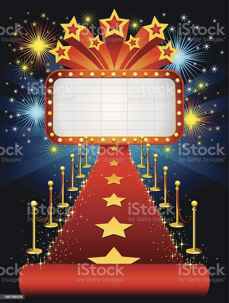 Movie Star vector art illustration