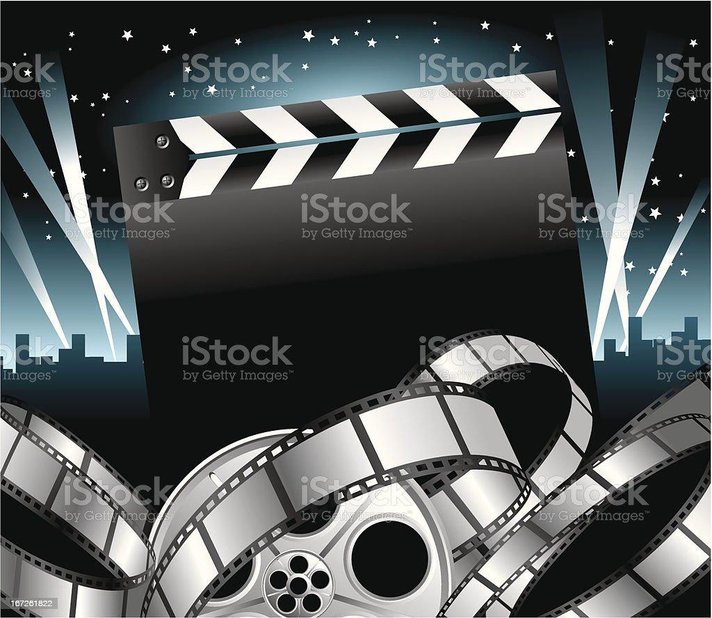 Movie Stars vector art illustration
