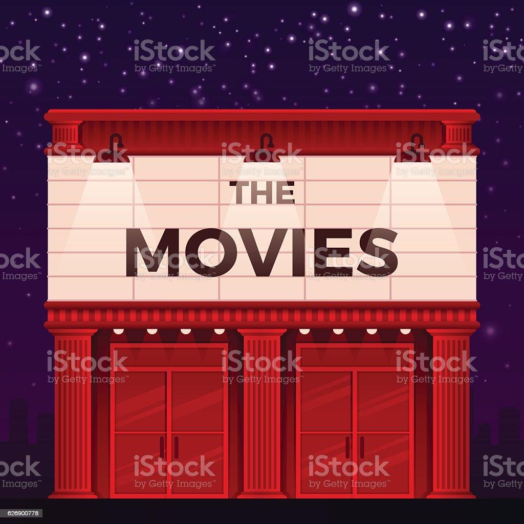 Movie Theater vector art illustration