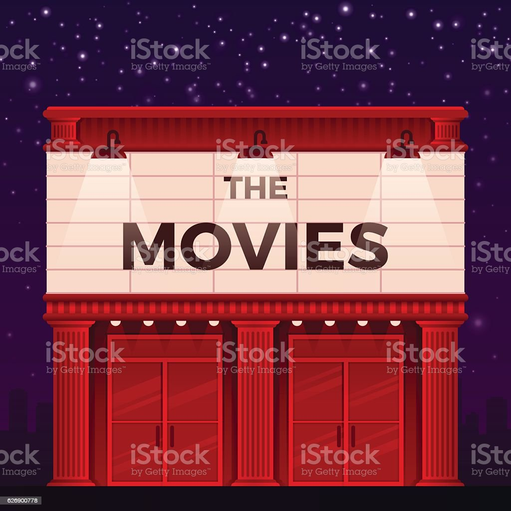 Movie Theater vector art illustration