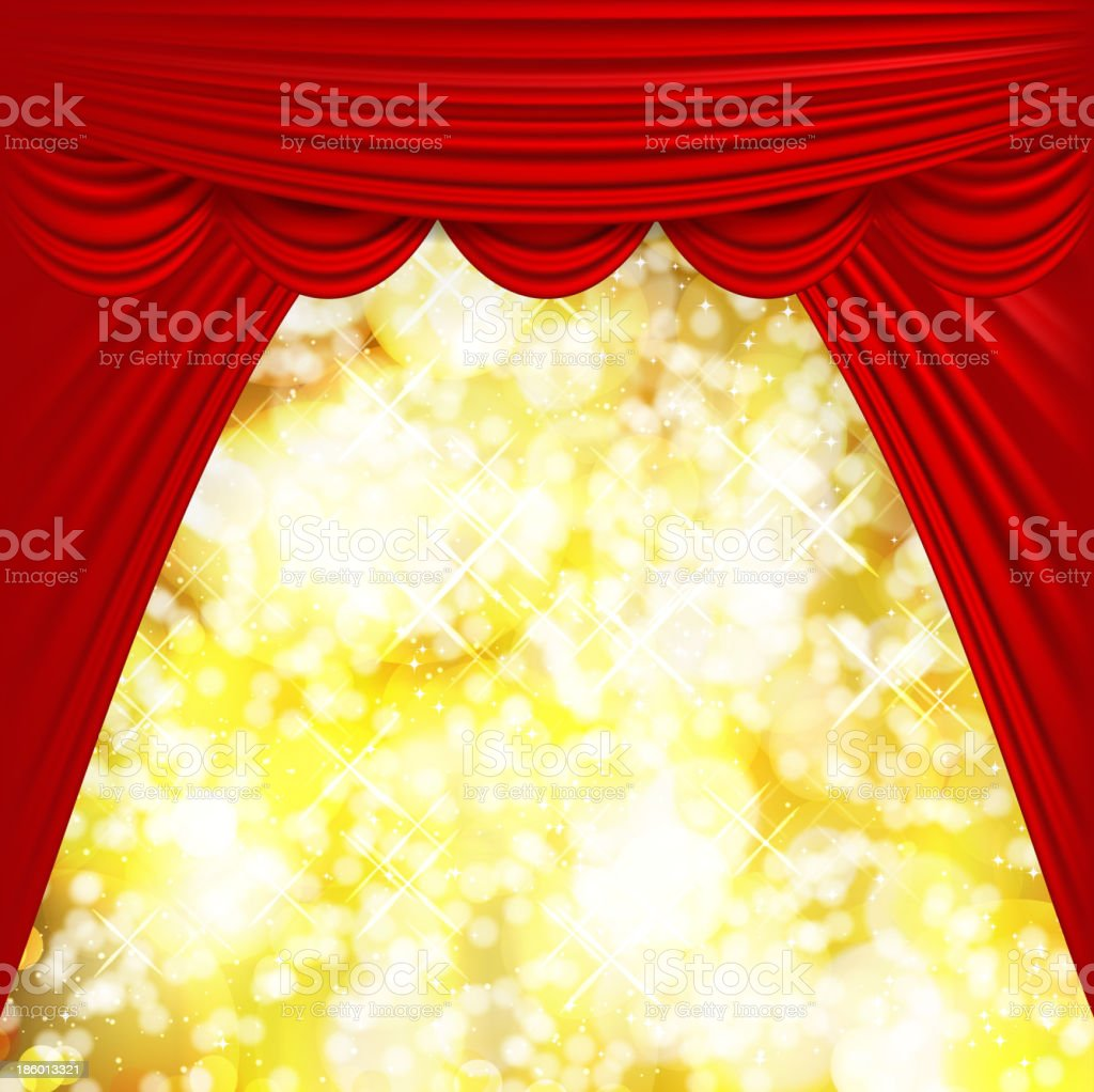 Movie Theatre Curtain royalty-free stock vector art