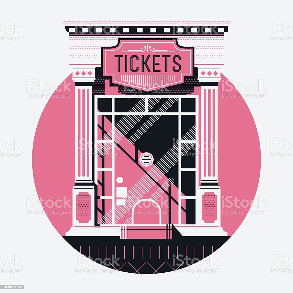 Movie ticket counter illustration vector art illustration