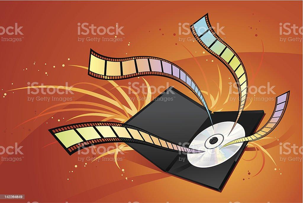 DVD - Movie royalty-free stock vector art