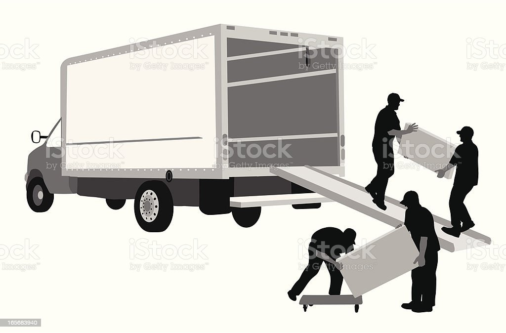 Moving Away Vector Silhouette royalty-free stock vector art