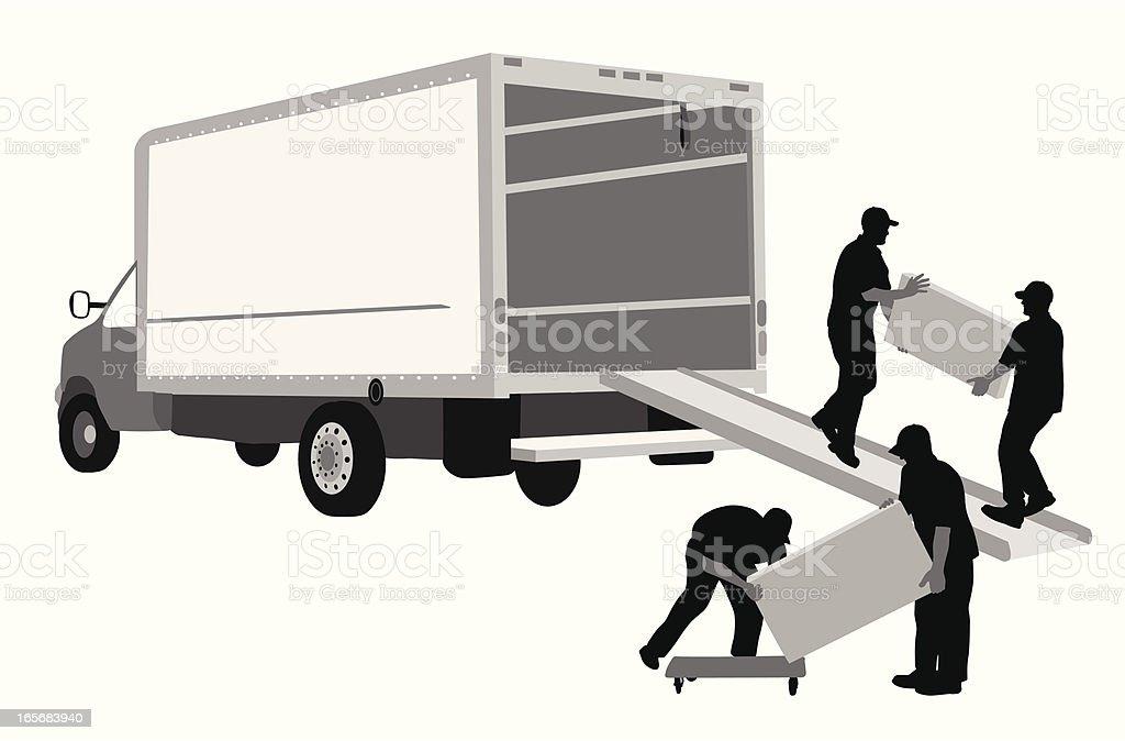 Moving Away Vector Silhouette vector art illustration