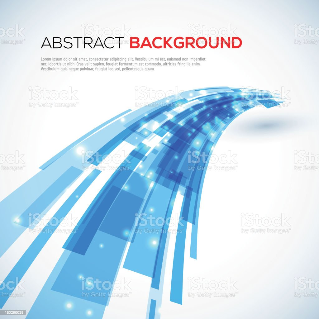 Moving blue abstract background vector art illustration