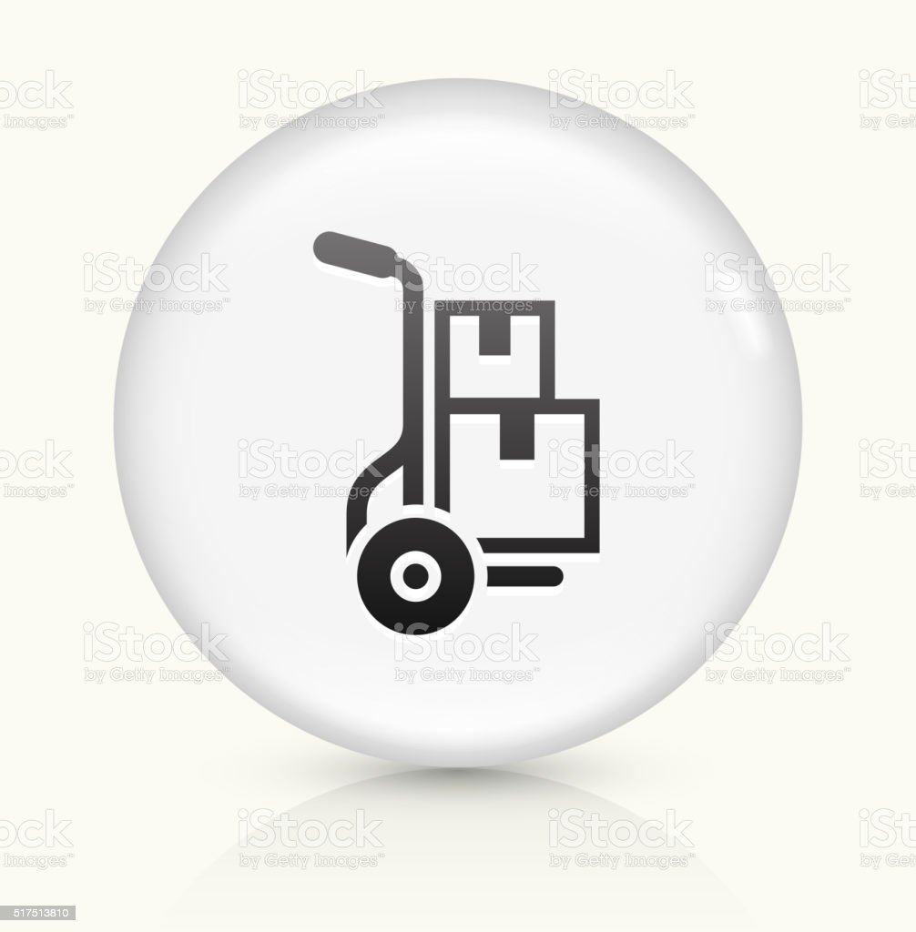 Moving Boxes icon on white round vector button vector art illustration