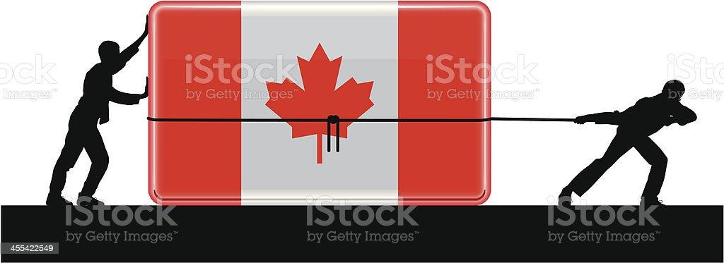 Moving Canada royalty-free stock vector art