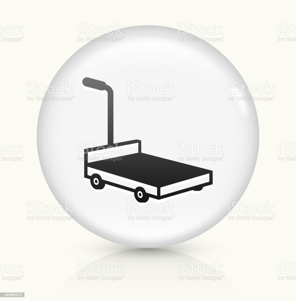 Moving Carriage icon on white round vector button vector art illustration