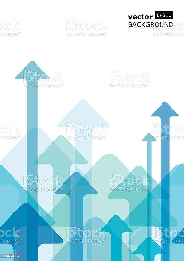 Moving colorful transparent arrows, seamless vector background vector art illustration