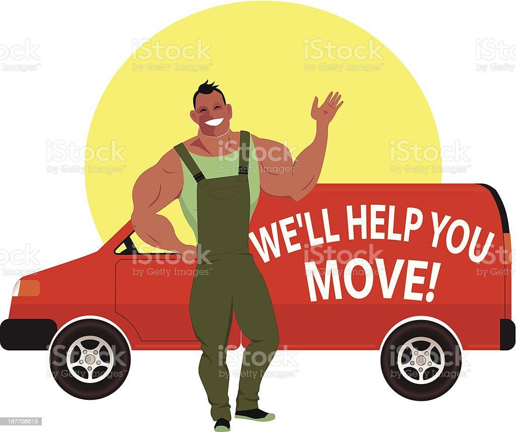 Moving company royalty-free stock vector art