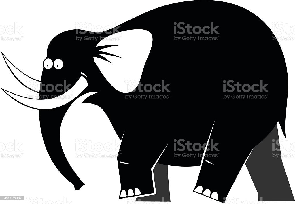 Moving elephant royalty-free stock vector art