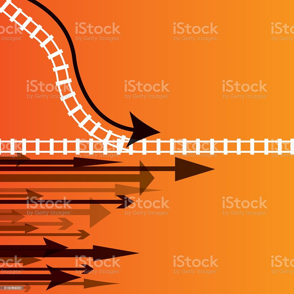 Moving Forward - Arrow Direction Background vector art illustration
