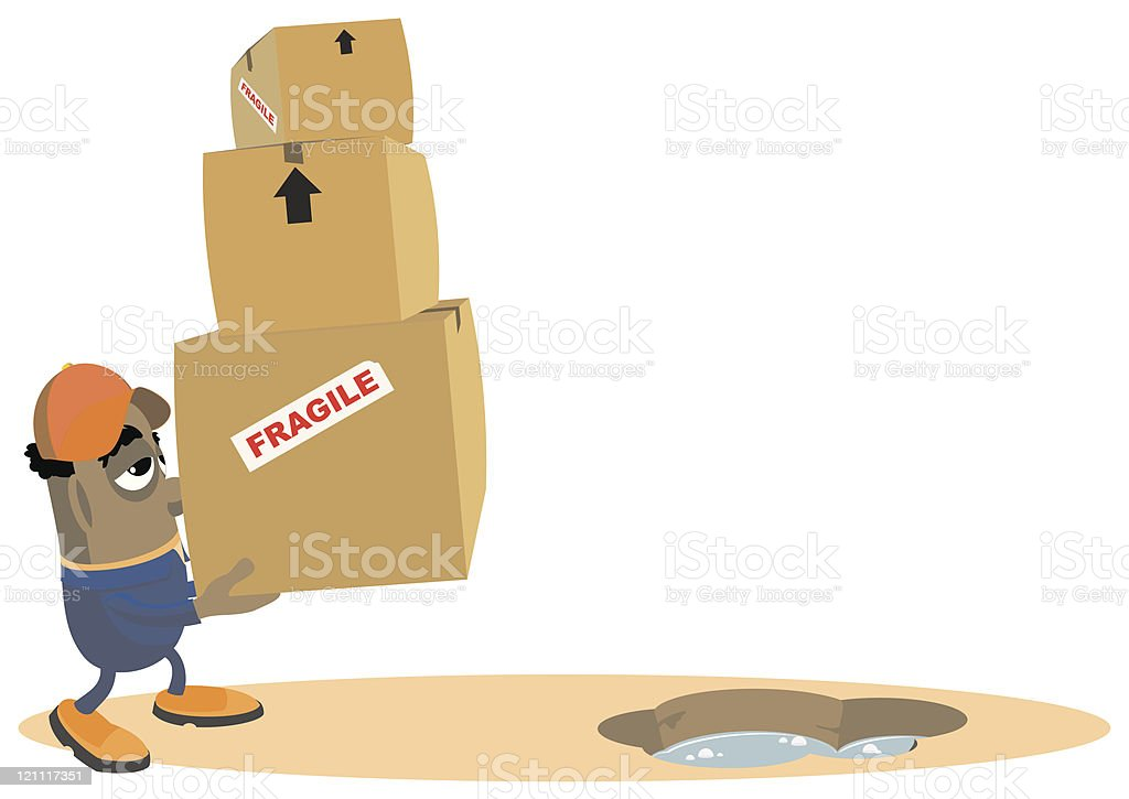 Moving House royalty-free stock vector art