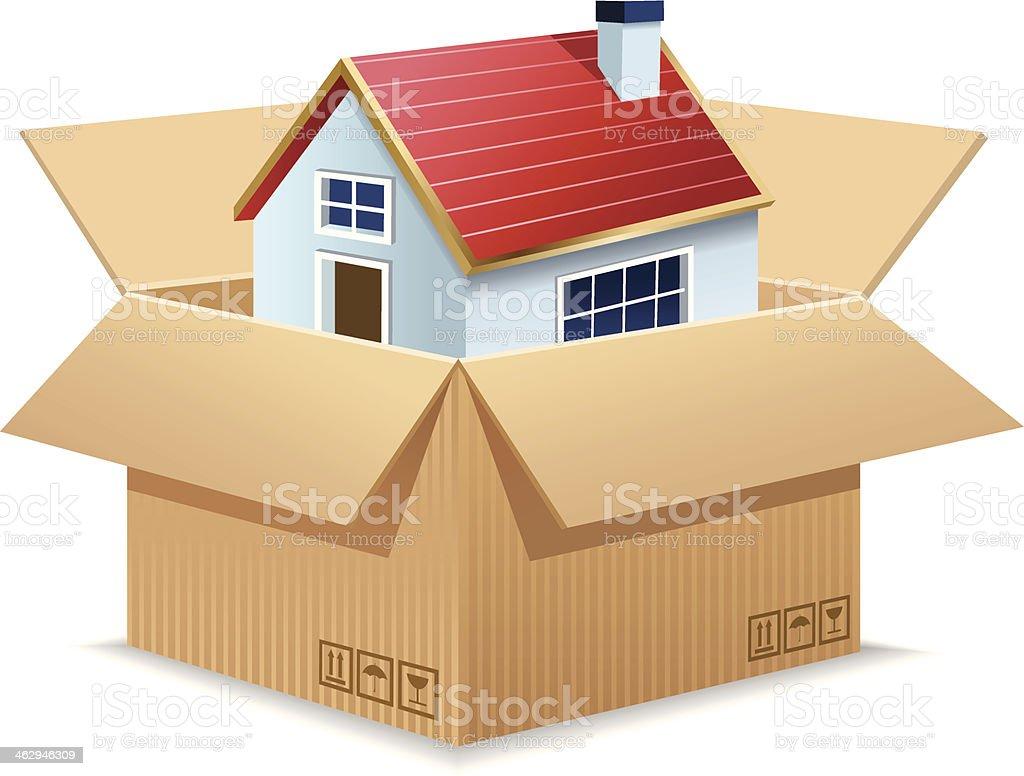Moving House vector art illustration