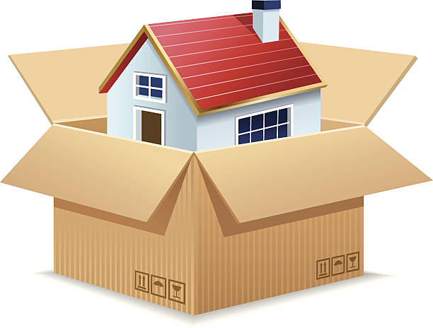 Moving House Clip Art Vector Images Illustrations Istock
