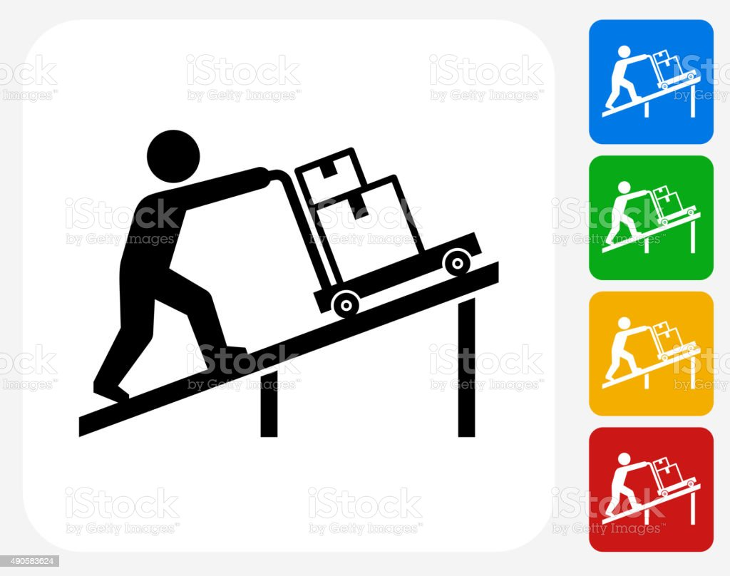 Moving Icon Flat Graphic Design vector art illustration