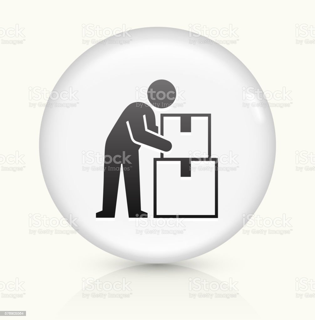 Moving icon on white round vector button vector art illustration
