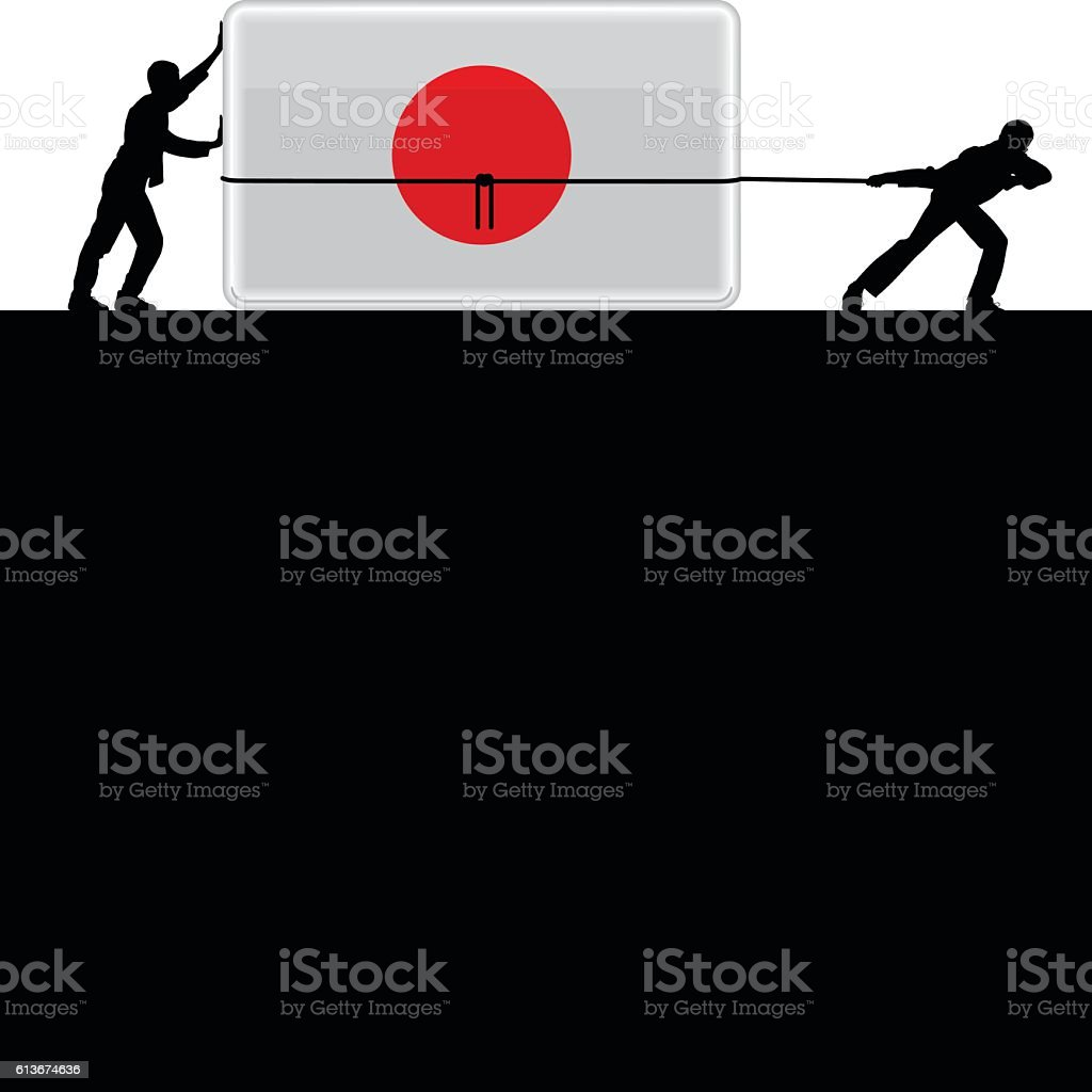 Moving Japan Forward vector art illustration