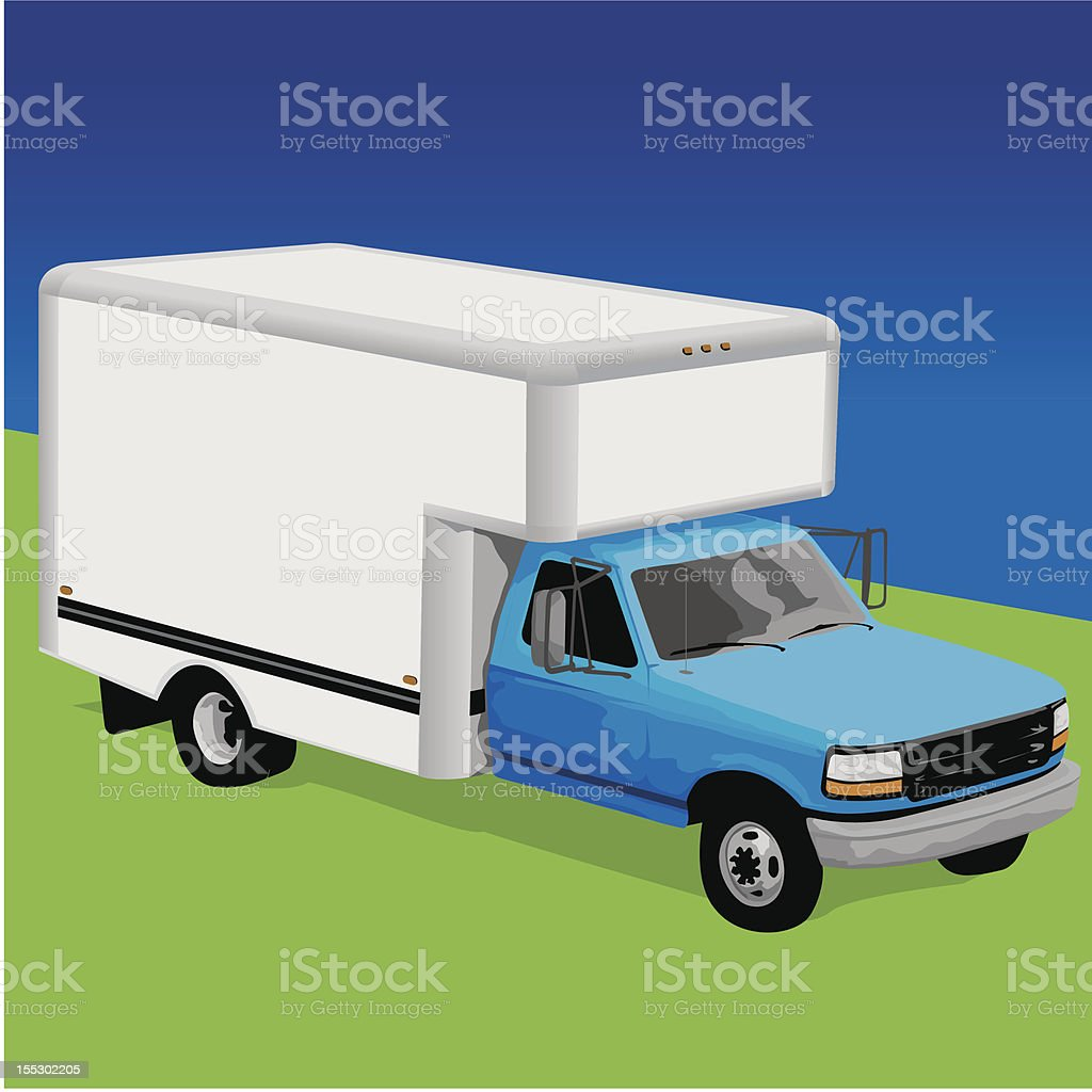 Moving out - Truck royalty-free stock vector art