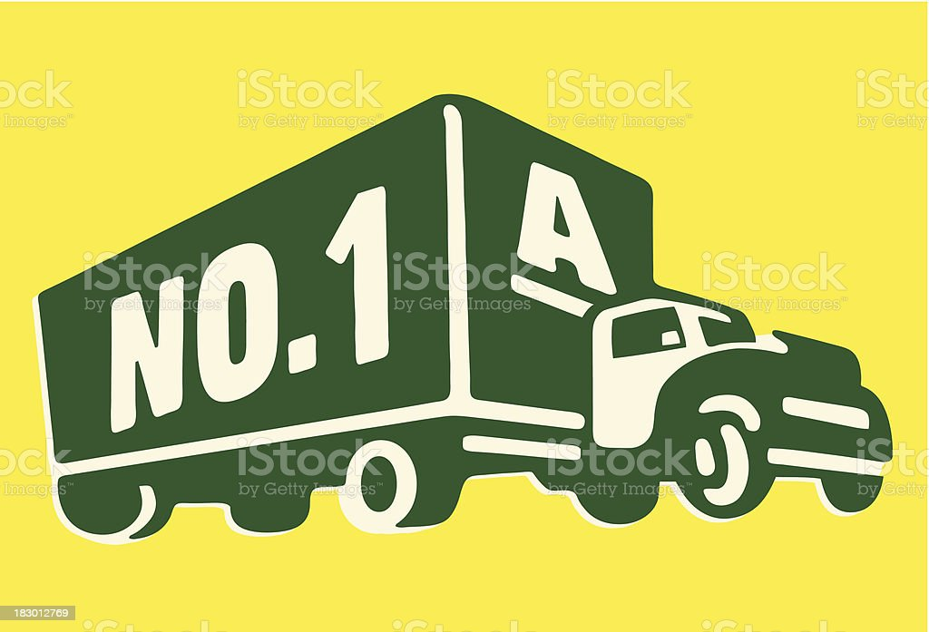 Moving Truck royalty-free stock vector art