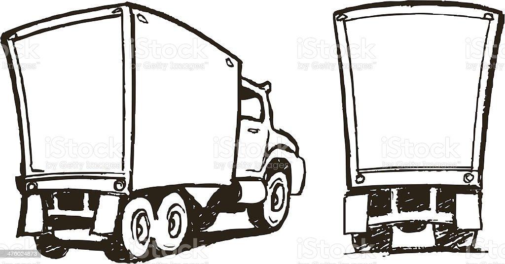 Moving Trucks - Cartoon Style vector art illustration