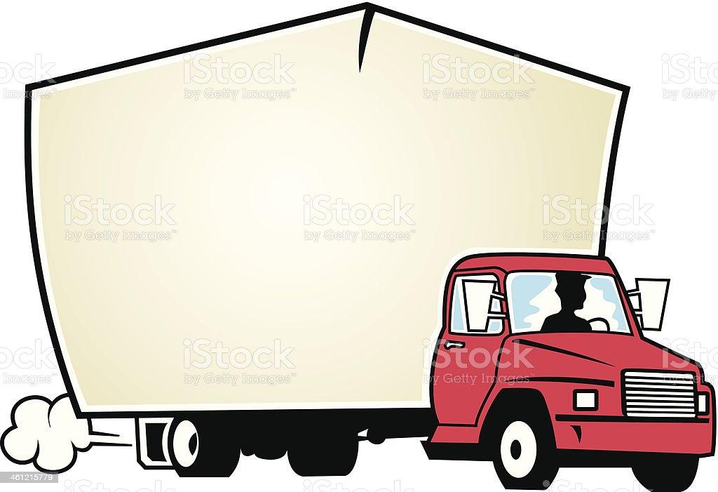 Moving Van Mortice C vector art illustration
