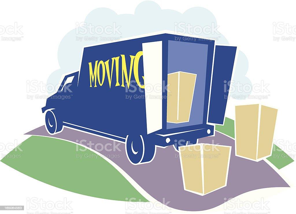Moving Van royalty-free stock vector art