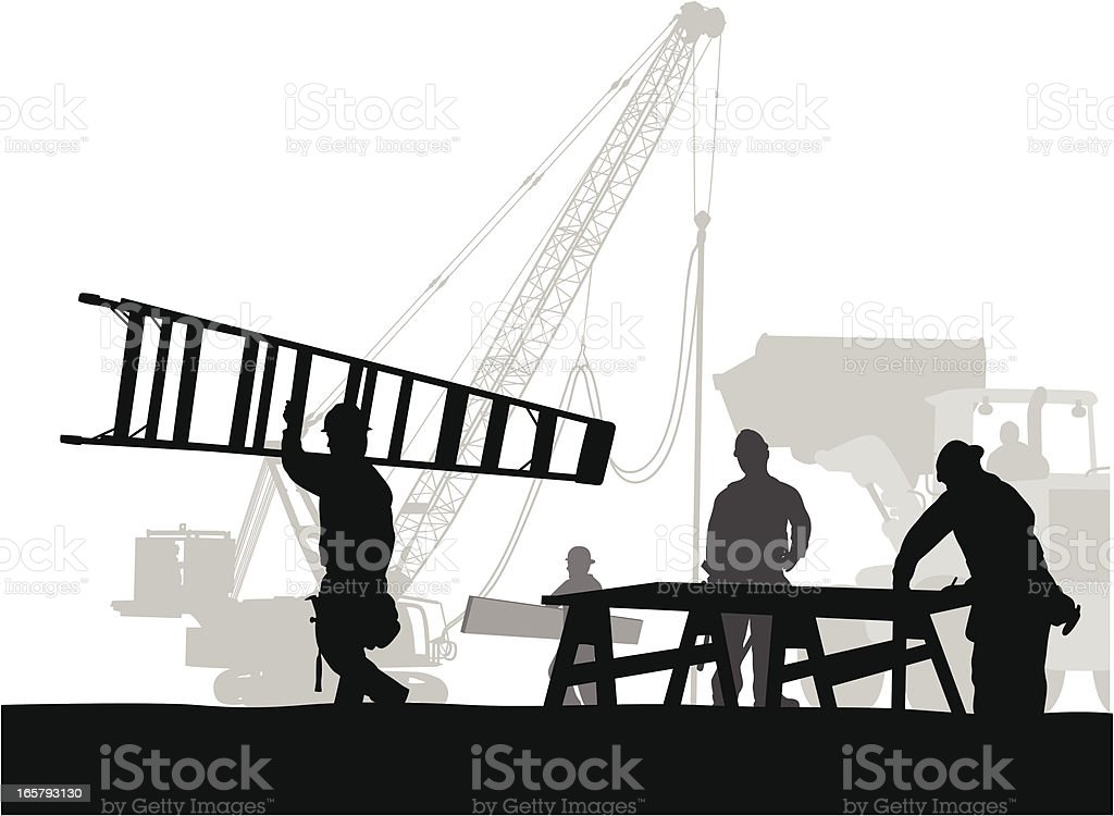 Moving Vector Silhouette royalty-free stock vector art