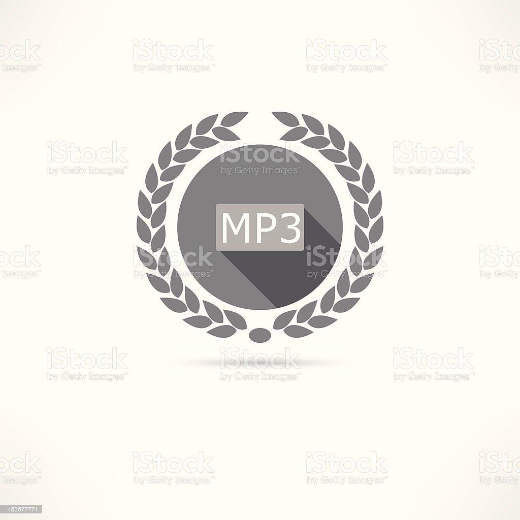 mp3 icon royalty-free stock vector art