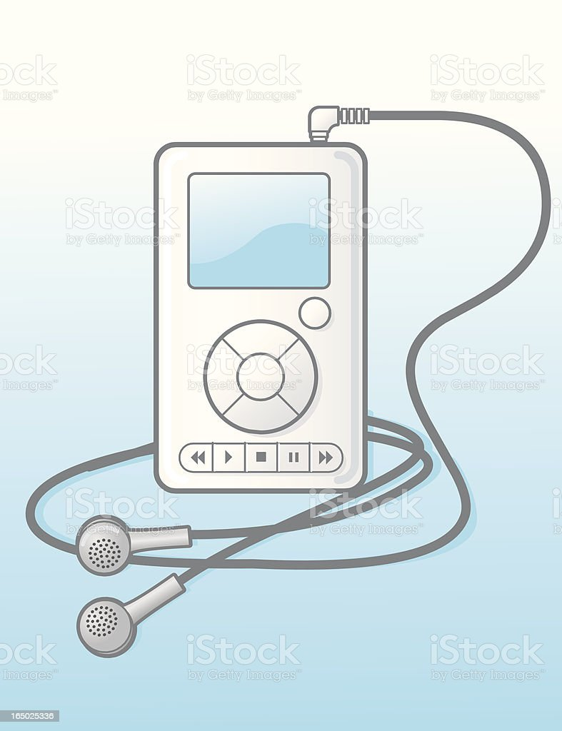 mp3 player royalty-free stock vector art