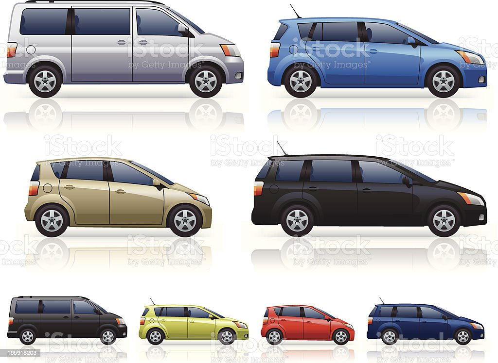 MPVs vector art illustration