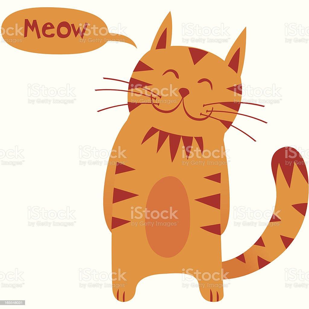 Mr Cat vector art illustration