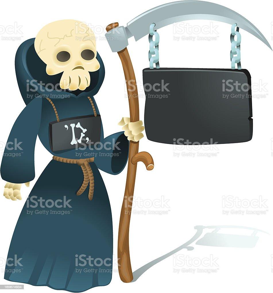 Mr Death Signpost Service royalty-free stock vector art