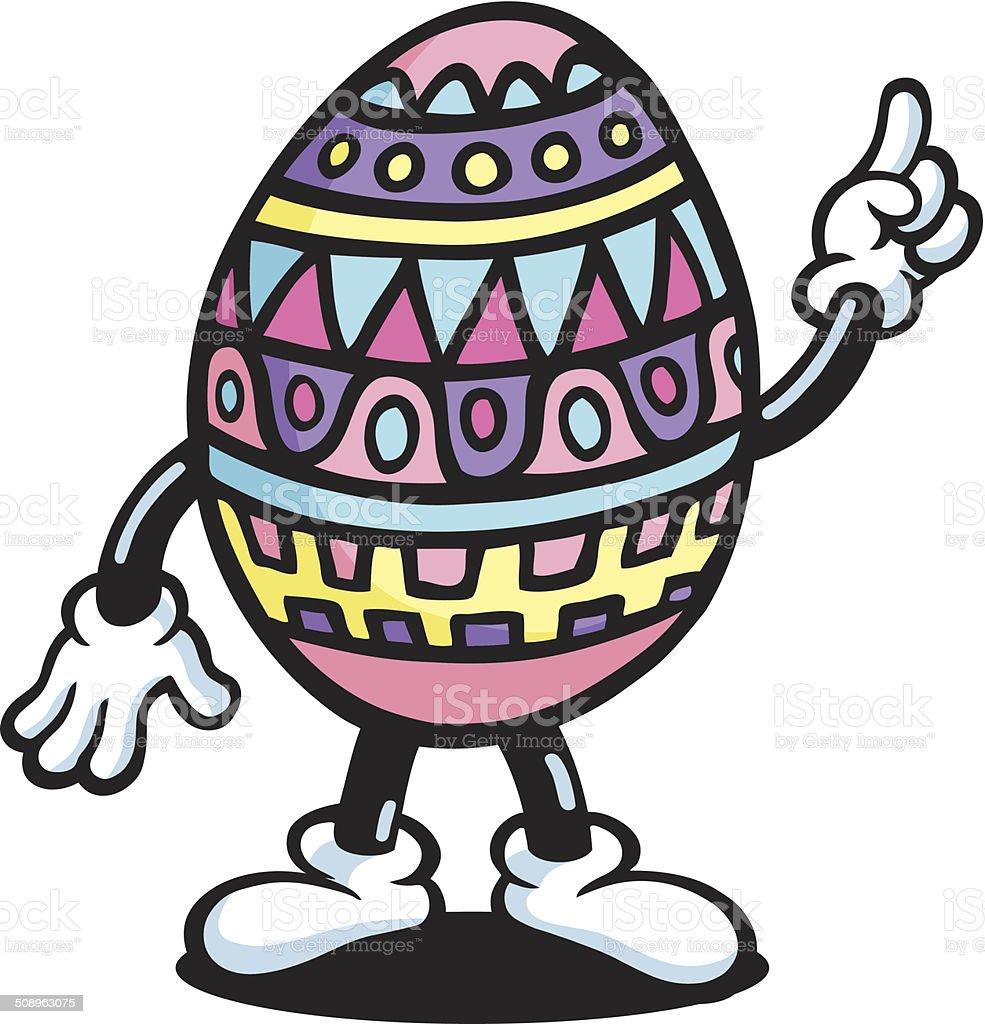 Mr Easter Egg vector art illustration