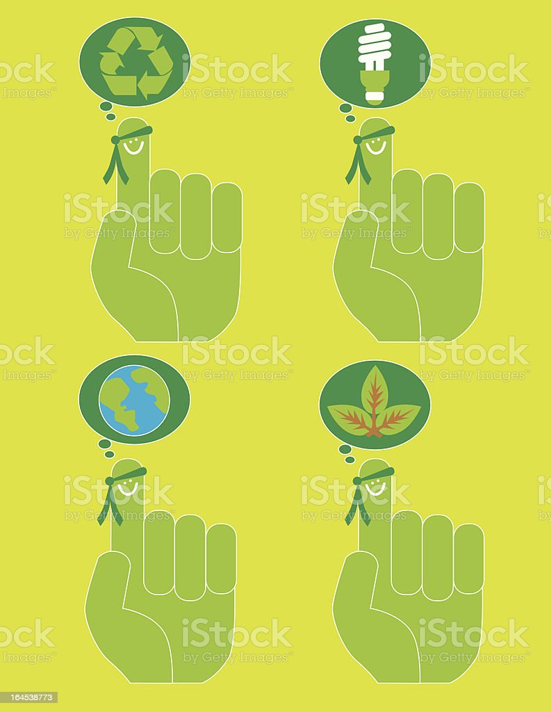 Mr Green Reminder royalty-free stock vector art