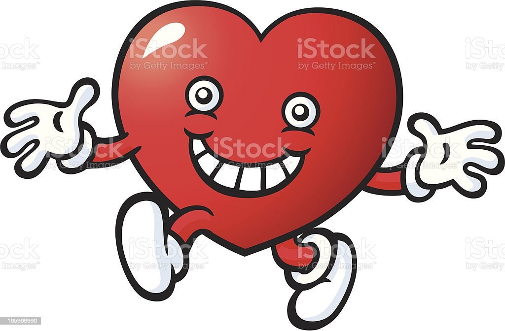Mr Heart royalty-free stock vector art