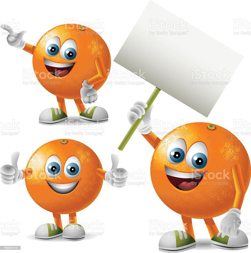 Mr. Orange: 3 in 1 vector art illustration