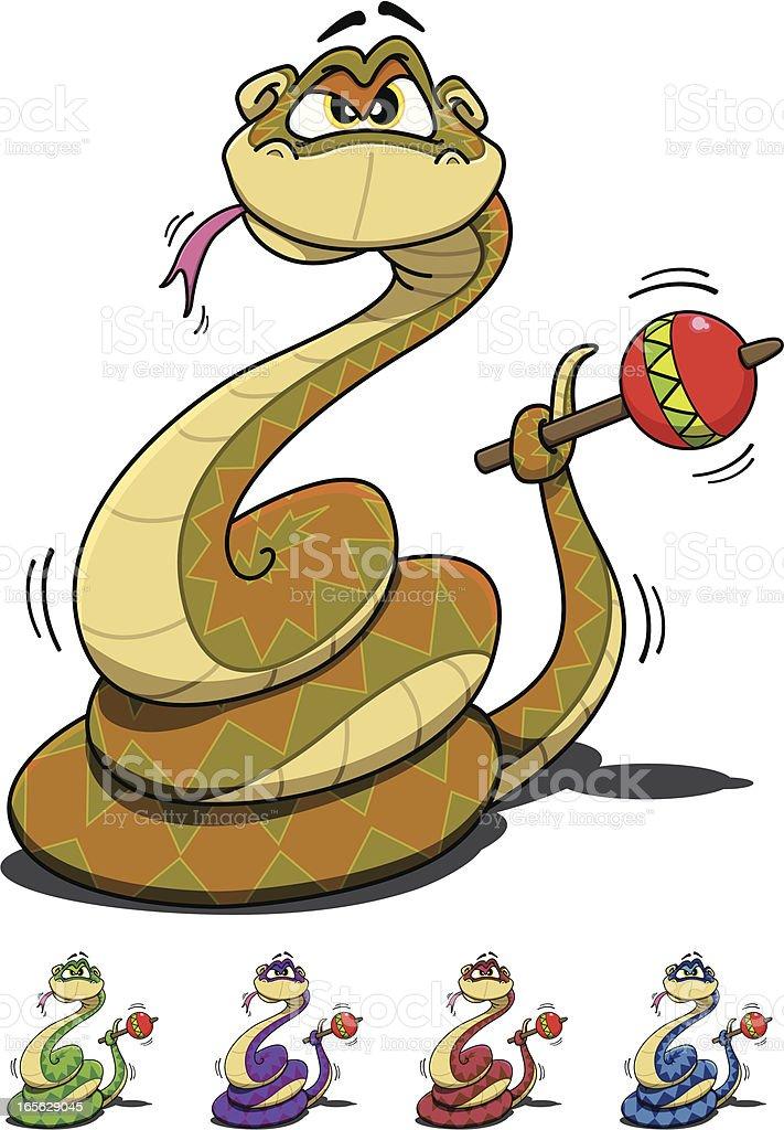 Mr Rattlesnake vector art illustration