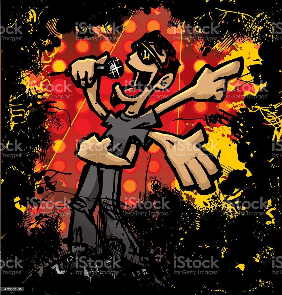 Mr. Rock Star vector art illustration