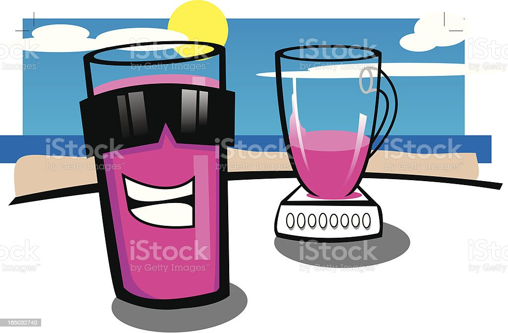 Mr Smoothie - Vector royalty-free stock vector art