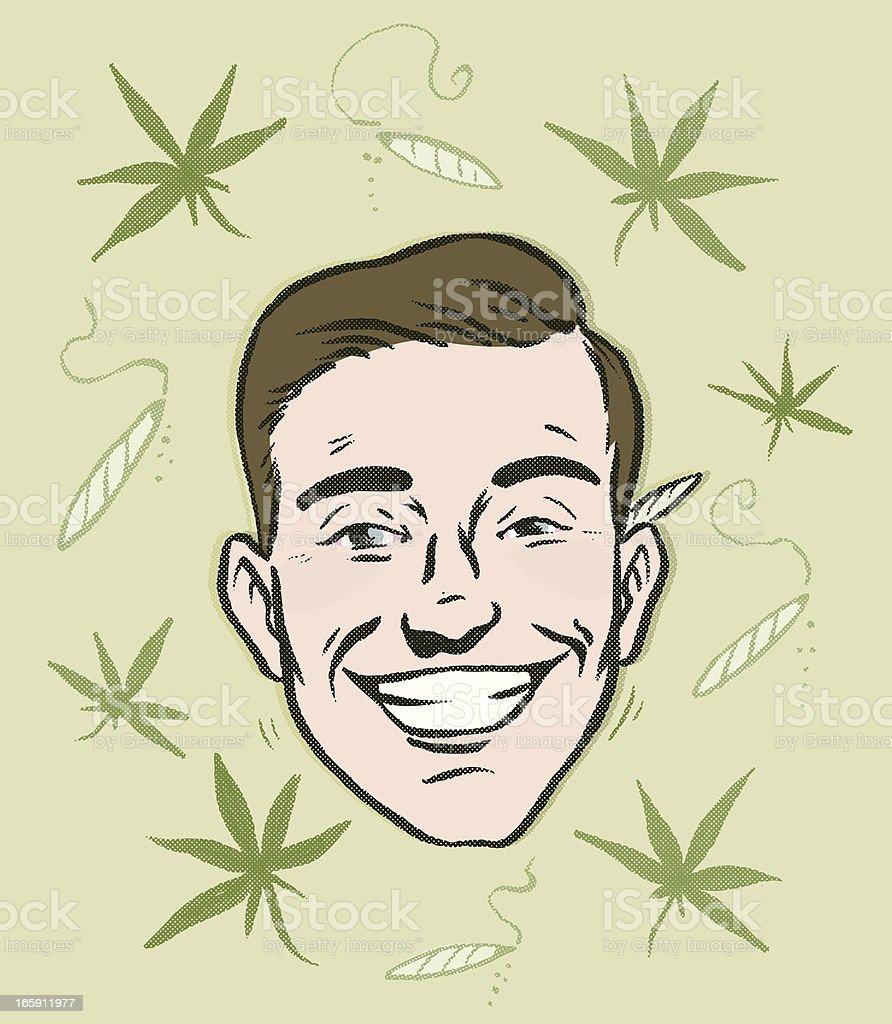 Mr.Hemp is Feeling good! vector art illustration