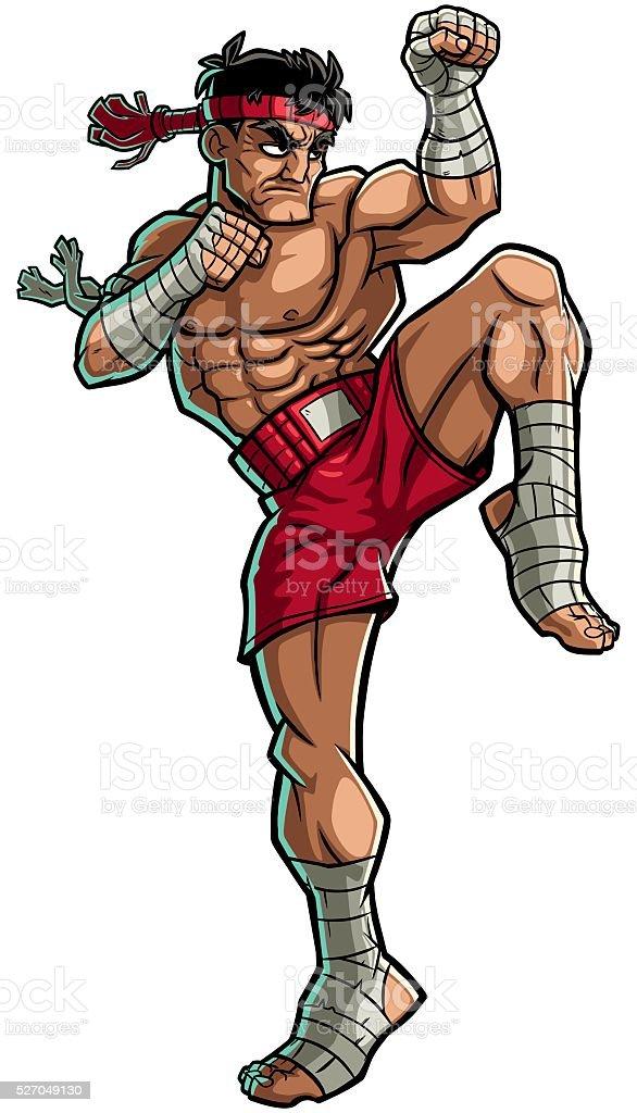 Muay Thai vector art illustration