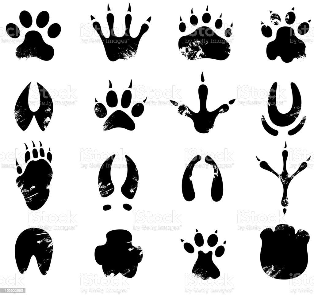 muddy footprint symbols royalty-free stock vector art
